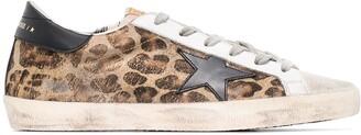 Golden Goose Superstar leopard print sneakers