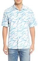 Tommy Bahama Men's Big & Tall Retsina Waves Classic Fit Silk Blend Camp Shirt