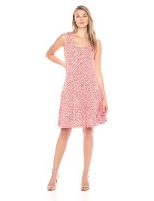 MSK Women's Flounce Hem Polka dot Dress