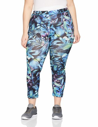 Ulla Popken Women's Funktionscapri Blatter Sports Pants