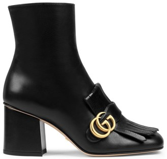 Gucci Marmont Leather Boots