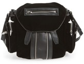 Alexander Wang Mini Marti Velvet & Lambskin Leather Backpack - Black