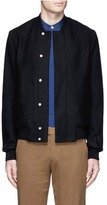 Paul Smith Wool cashmere blend twill bomber jacket