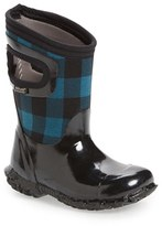 Bogs Girl's North Hampton Buffalo Plaid Waterproof Boot