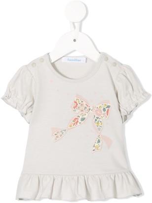 Familiar bow motif T-shirt