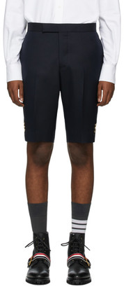 Thom Browne Navy Super 120s Vented Shorts