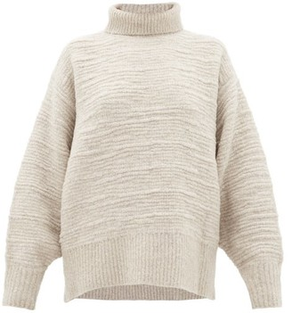 The Row Pheliana Roll-neck Merino-wool Blend Sweater - Light Grey