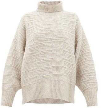 The Row Pheliana Roll-neck Merino-wool Blend Sweater - Womens - Light Grey
