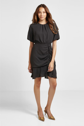 Chiffon Mini Ruched Dress