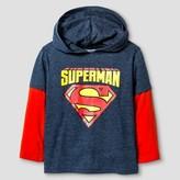 Superman Toddler Boy's Long Sleeve Hoodie - Blue