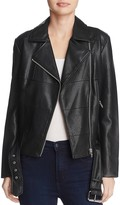 BB Dakota Maria Paneled Faux Leather Moto Jacket