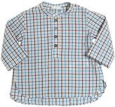 Il Gufo Checked Cotton Seersucker Shirt