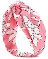 Valentino Floral-printed silk headband