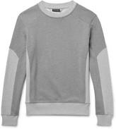 Belstaff - Matterley Two-tone Loopback Cotton-jersey Sweatshirt