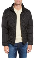 Schott NYC Men's Cafe Racer Quilted Down Hooded Jacket