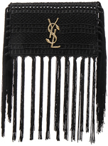 Saint Laurent Small Monogramme Crochet Serpent Clutch