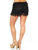 West Coast Wardrobe We Can't Stop Crochet Shorts in Black
