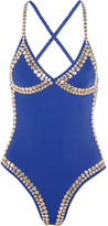 Norma Kamali Studded Swimsuit - Cobalt blue