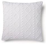 Ralph Lauren Judson Cable-Knit Cotton Square Pillow