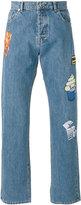 Kenzo badge appliquéd jeans