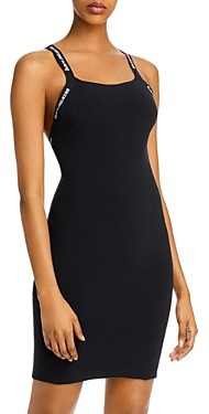 Alexander Wang Logo Bodycon Tank Dress