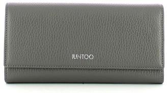 Iuntoo Gray Leather Bifold Large Armonia Women's Wallet