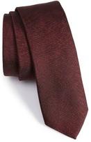 BOSS Men's Solid Ribbed Tie