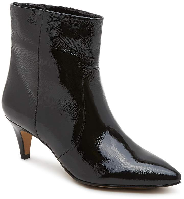 Dolce Vita Women's Dee Patent Leather Kitten Heel Booties