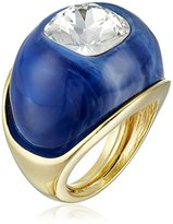 Kenneth Jay Lane Faux Lapis Dome Adjustable Ring