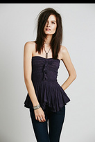 Free People FP ONE Solid Rayon Trim Peplum