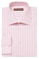 Hickey Freeman Striped Classic Fit Dress Shirt