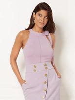 New York & Co. Eva Mendes Collection - Knit Halter Top - Lavender