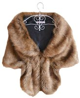 Miami Dress Winter Faux Fur Bride Wrap Cape For Evening Party Wedding Shawls (PJ41)