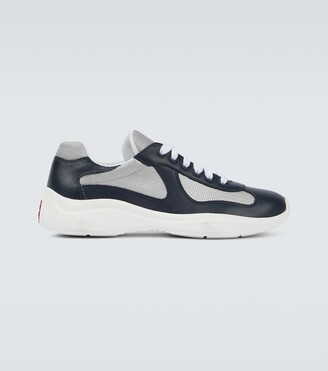 Prada Patent leather and functional fabric sneakers