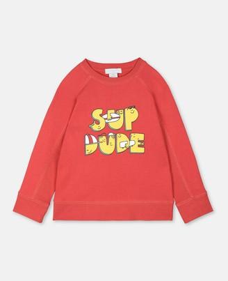 Stella Mccartney Kids Stella McCartney sup dude cotton sweatshirt