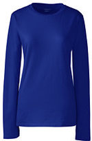 Classic Women's Petite Relaxed Supima Crewneck T-shirt-Rich Sapphire