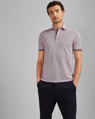 Ted Baker ISLANDA Textured cotton polo shirt