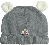 Moncler Knitted Wool Hat W/ Ears
