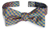 Ted Baker Men's Bejeweled Check Silk Bow Tie