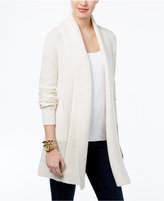 MICHAEL Michael Kors Open-Front Waffle-Knit Cardigan