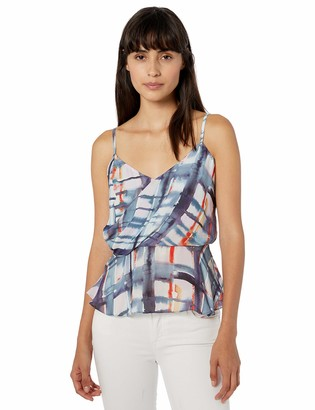 Parker Women's Napa Sleeveless Wrap Peplum Top
