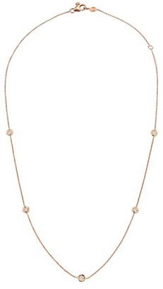 Roberto Coin Diamond By The Inch 18K Rose Gold & Diamond Station Necklace