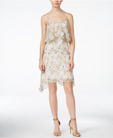 BCBGeneration Sleeveless Floral-Print Popover Dress