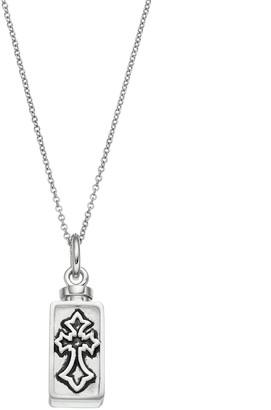 Silver Cross Sentimental Expressions Sterling Rememberance Ash Holder Necklace