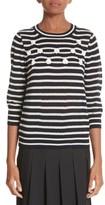 Comme des Garcons Women's Button Back Stripe Sweater