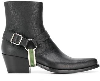 Calvin Klein Textured Ankle Boots