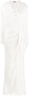 Brunello Cucinelli Wrap Front Shirt Dress