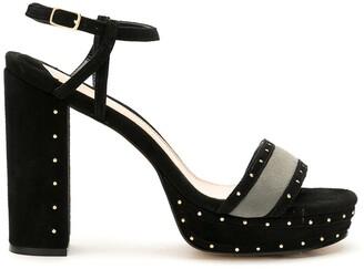 Eva Suede Sandals White Studs