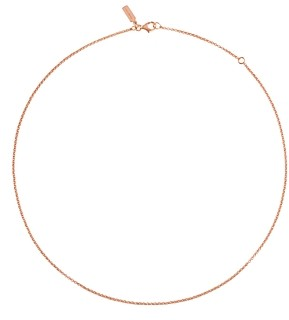 Tous 18K Rose Gold-Plated Sterling Silver Chain Choker Necklace, 17.7