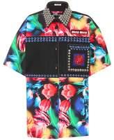 Miu Miu Embellished denim shirt